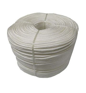 5mm x 220 metres WHITE BRAIDED POLYESTER ROPE marine boat yacht fishing deck